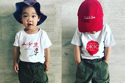 子供用のオリジナル通学Tシャツ